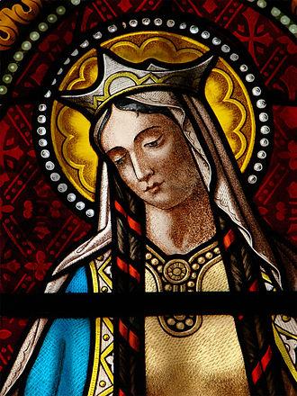 Clotilde, vitrail église de Florac