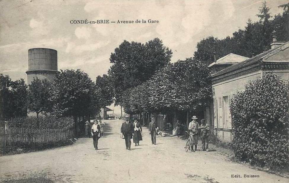 Condé-en-Brie (Aisne) CPA Avenue de la Gare