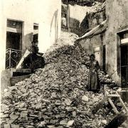 Condé-en-Brie (Aisne) CPA Bombardement, derrière l'Hôtel de l'Est
