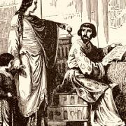 Robert II et Constance d'Arles, gravure fin XIXè