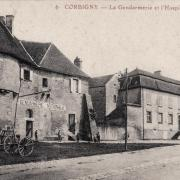 Corbigny (Nièvre) L'hospice et la gendarmerie CPA