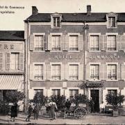 Corbigny (Nièvre) L'hôtel du Commerce CPA
