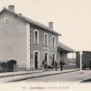 Corbigny (Nièvre) La gare du Tacot en 1910 CPA