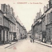 Corbigny (Nièvre) La Grande rue CPA