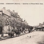 Corbigny (Nièvre) Le quartier Saint Jean CPA
