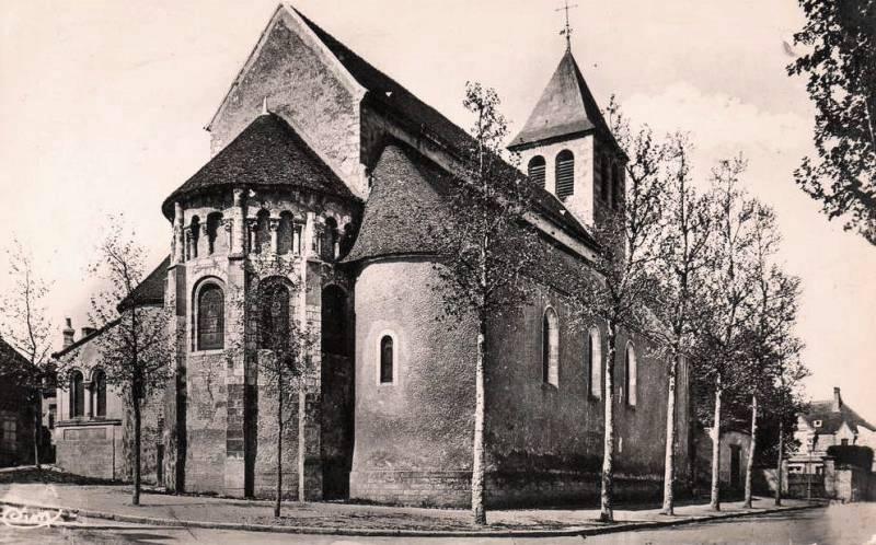 Cosne-Cours-sur-Loire (Nièvre) L'église Saint-Aignan CPA