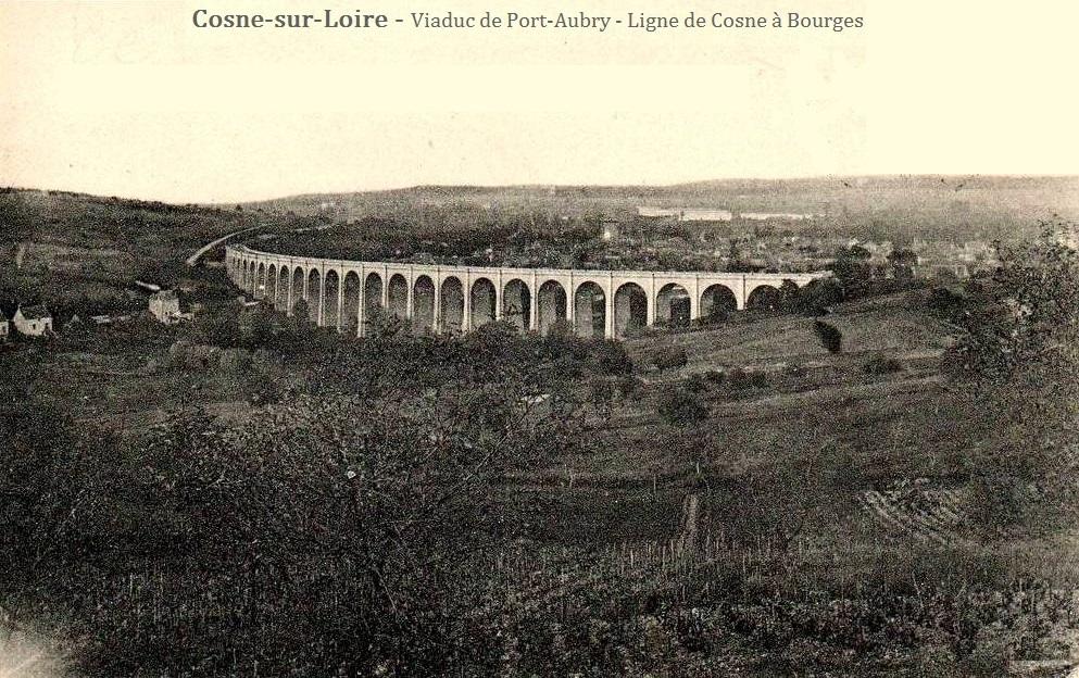 Cosne-Cours-sur-Loire (Nièvre) Le viaduc de Port-Aubry CPA