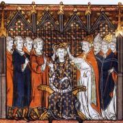 Hugues Capet, le couronnement enluminure