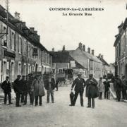 Courson-les-Carrières (89) La grand rue CPA