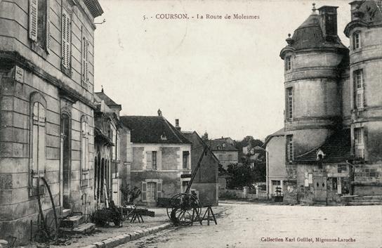 Courson-les-Carrières (89) La route de Molesmes CPA