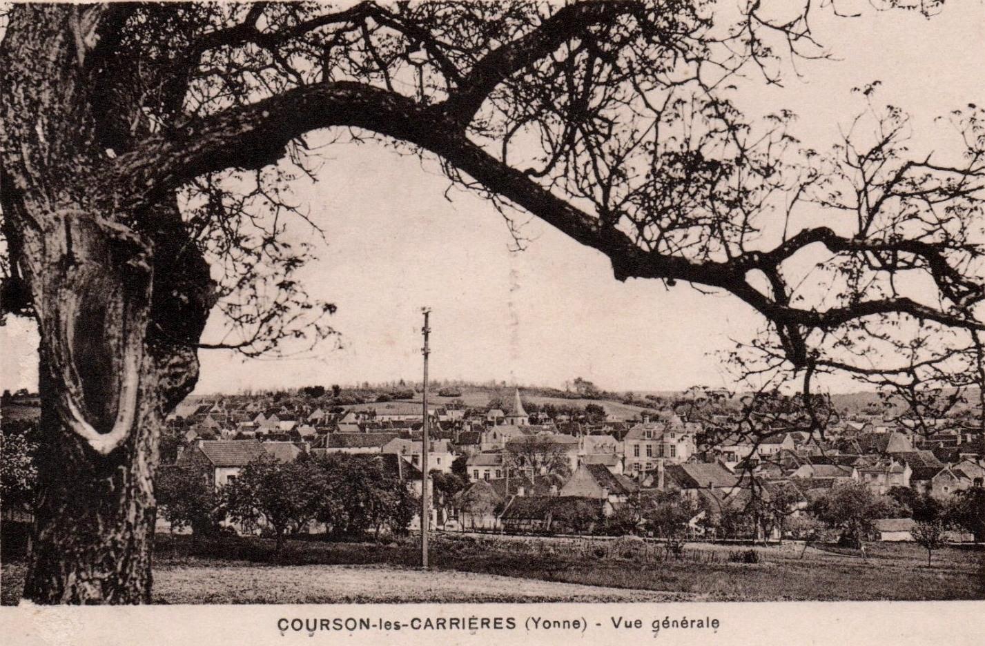 Courson-les-Carrières (89) Vue générale CPA