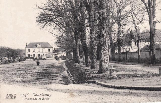 Courtenay (45) Promenade et école CPA
