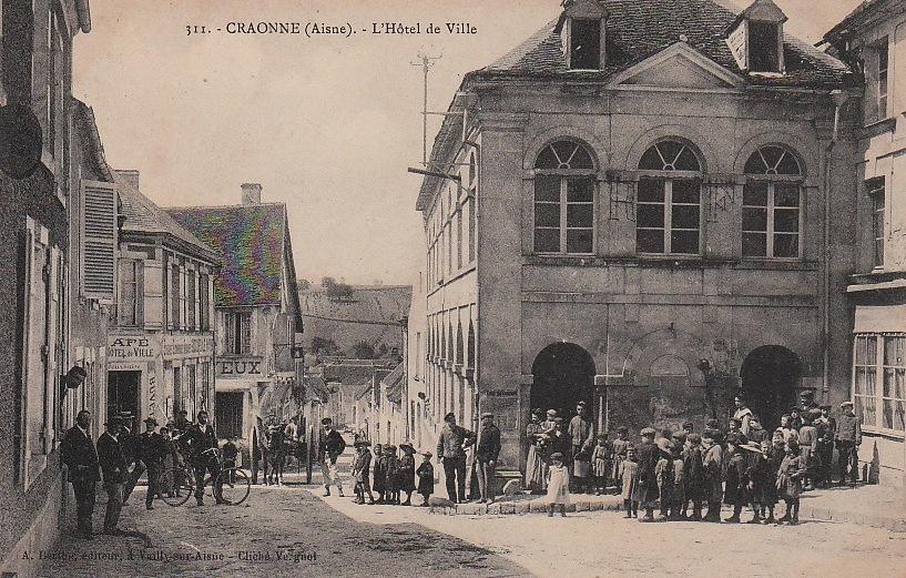 Craonne (Aisne) CPA Hôtel de ville avant 1914