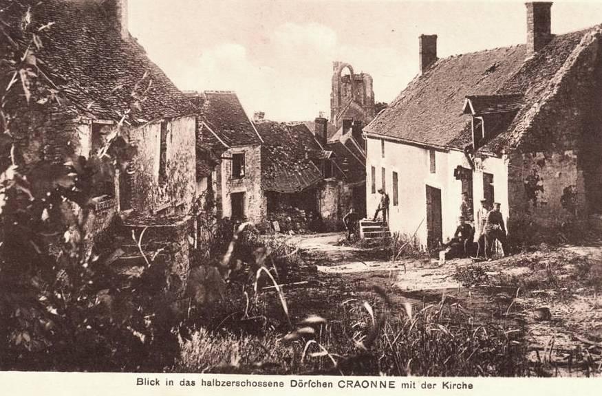 Craonne (Aisne) CPA Le village pas encore totalement détruit