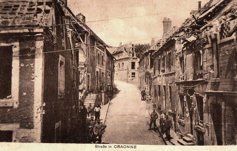 Craonne (Aisne) CPA ruines de l'ancien village