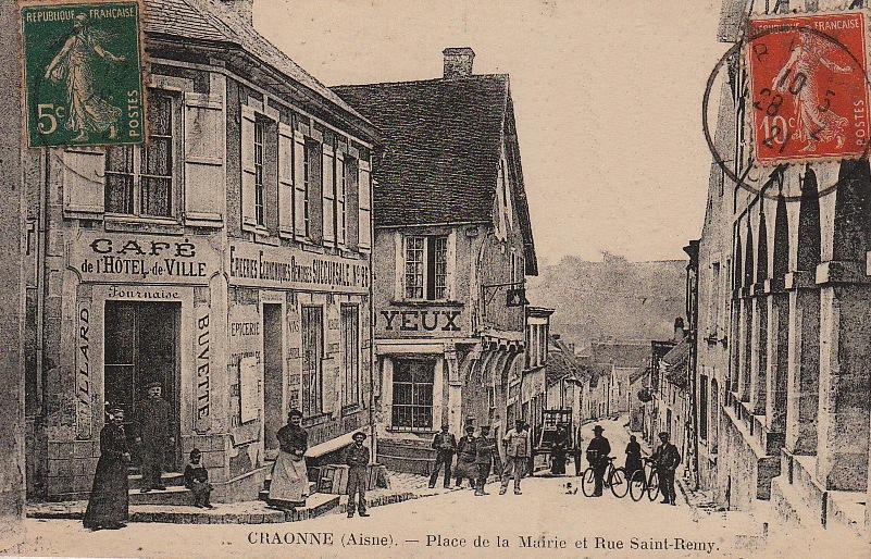 Craonne (Aisne) CPA rue Saint Rémi avant 1914