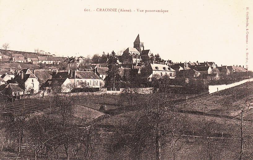 Craonne (Aisne) CPA vue panoramique avant 1914
