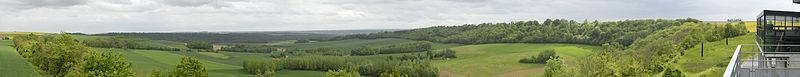 Craonne (Aisne) panorama du chemin des dames