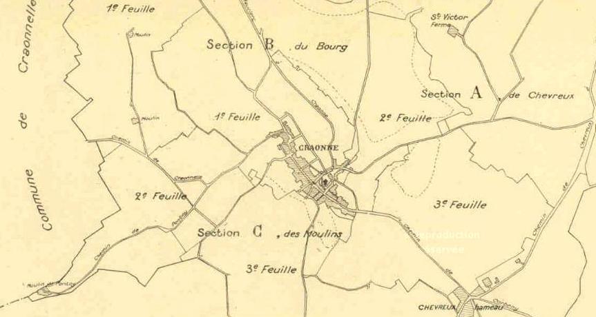 Craonne (Aisne) Plans cadastre 1826