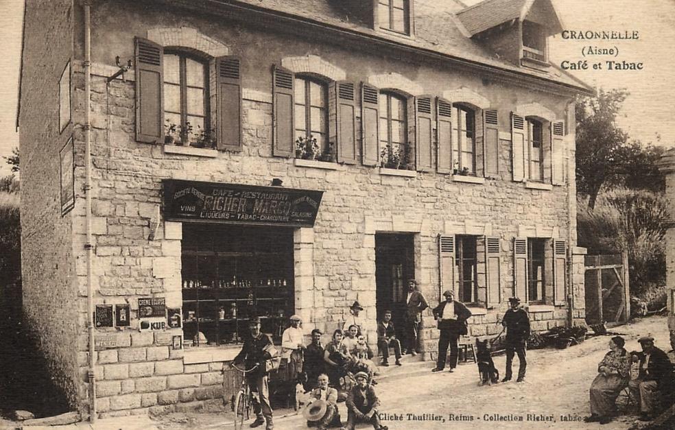 Craonnelle (Aisne) CPA café-tabac