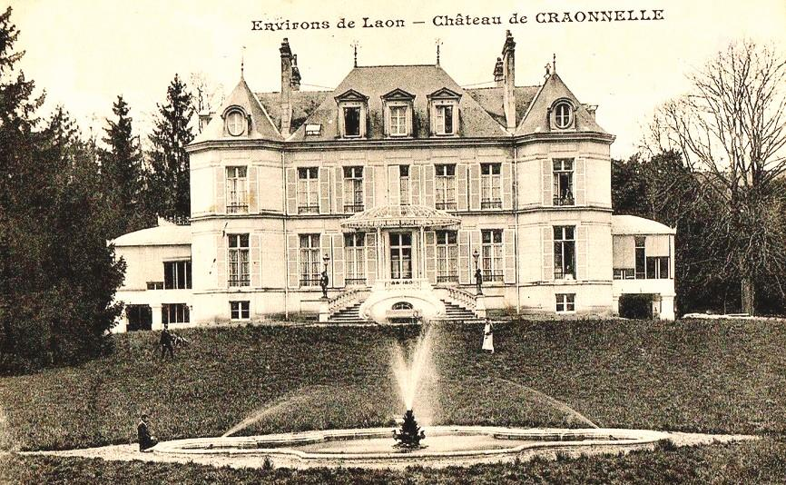 Craonnelle (Aisne) CPA château en 1910