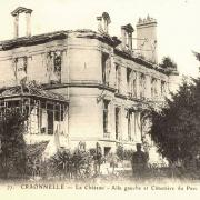 Craonnelle (Aisne) CPA château en ruines aile gauche