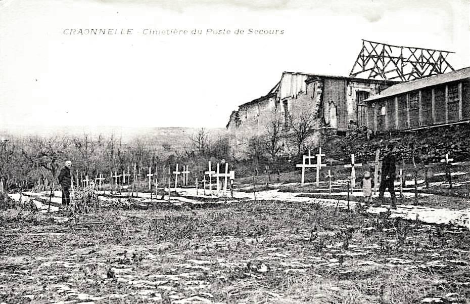 Craonnelle (Aisne) CPA cimetière du poste de secours