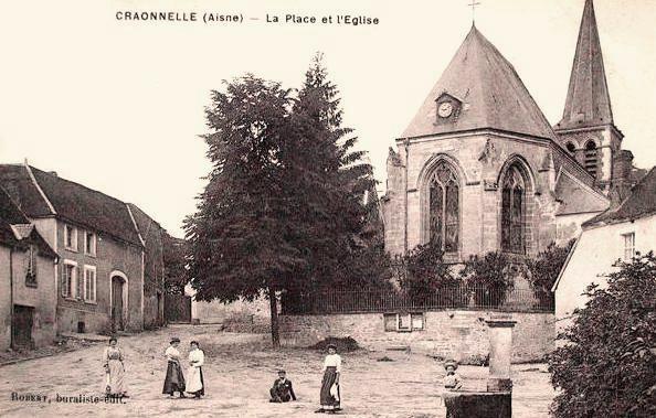 Craonnelle (Aisne) CPA église Sainte Benoite