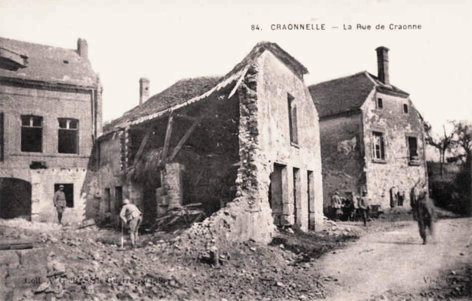 Craonnelle (Aisne) CPA la rue de Craonne