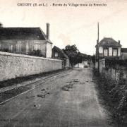 Crucey-Villages (28) La route de Brézolles CPA