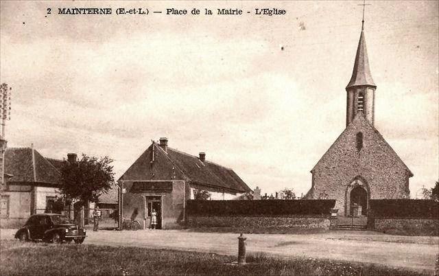 Crucey-Villages (28) Mainterne, l'église Saint-Laurent CPA