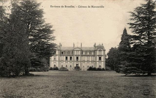 Crucey-Villages (28) Vitray-sous-Brézolles, le château de Marcouville CPA