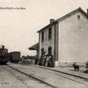 Crux-la-Ville (Nièvre) La gare CPA