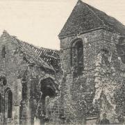 Cuissy et Geny (Aisne) Eglise Saint Pierre en 1914