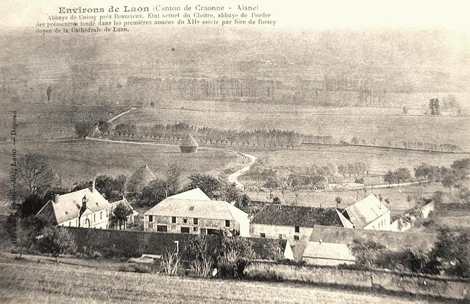 Cuissy-et-Gény (Aisne) CPA Abbaye des Prémontrés vue générale en 1910