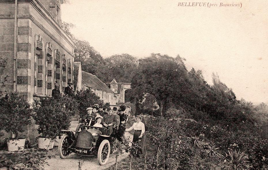 Cuissy-et-Gény (Aisne) CPA Château de Bellevue en 1910