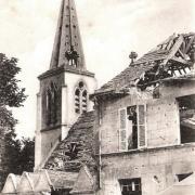 Cuts oise cpa l eglise apres 1914 1918