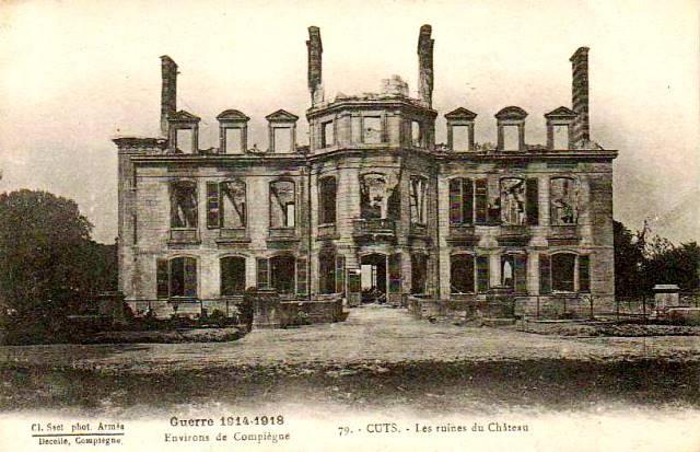 Cuts oise cpa le chateau apres 1914 1918