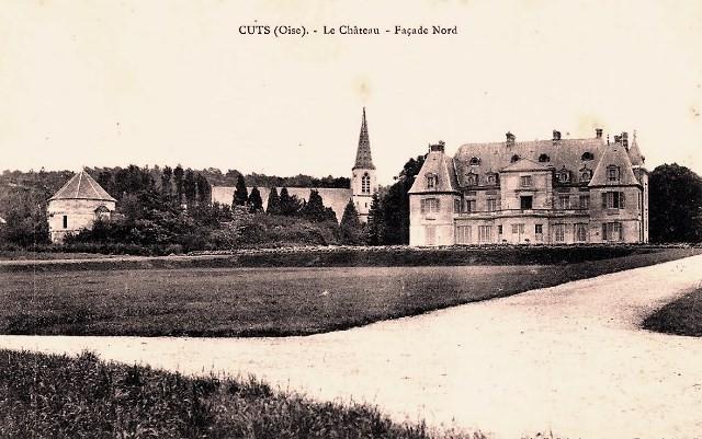 Cuts oise cpa le chateau avant 1914