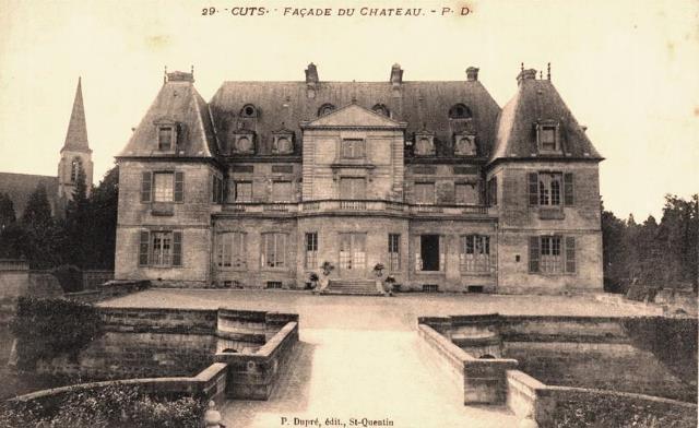 Cuts oise cpa le chateau avant 1915