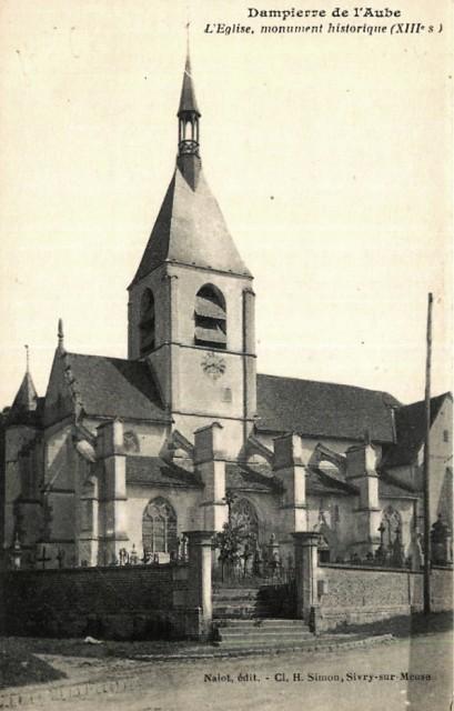 Dampierre (10) L'église CPA