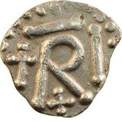 Denier argent sous Charles Martel, père de Carloman