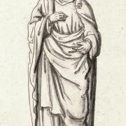 Dessin tiré du gisant d'Hugues Capet à Saint-Denis