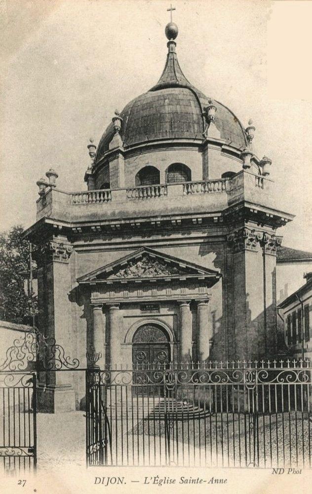 Dijon (Côte d'Or) L'église Sainte-Anne CPA