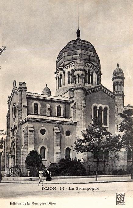 Dijon (Côte d'Or) La Synagogue CPA