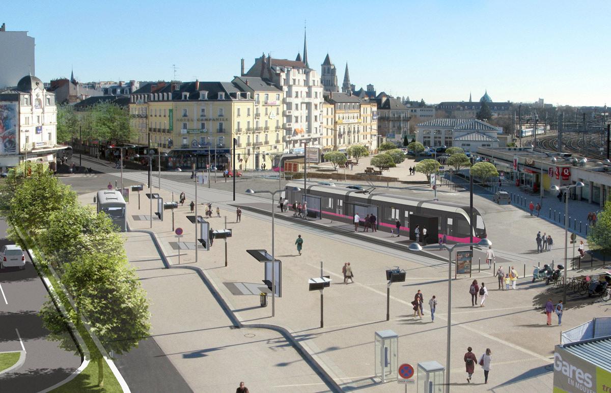 Dijon (Côte d'Or) Le quartier de la Gare