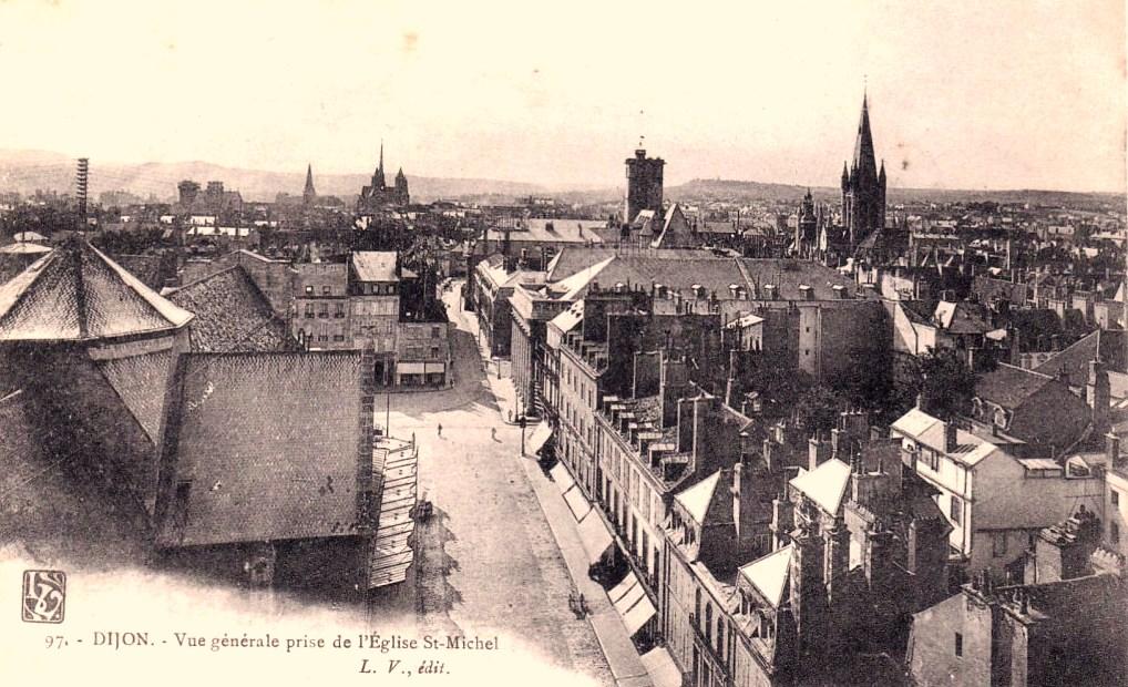 Dijon (Côte d'Or) Vue générale CPA