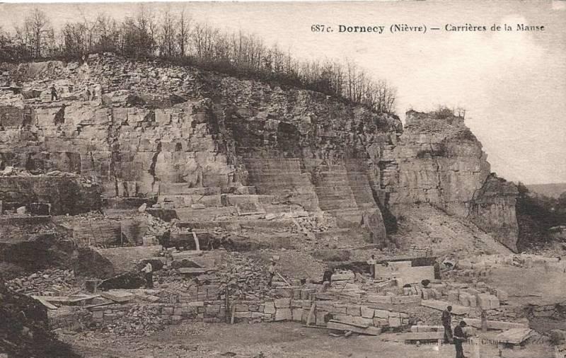 Dornecy (Nièvre) La Manse, les carrières CPA
