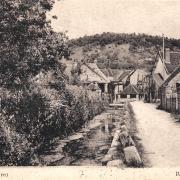 Dornecy (Nièvre) La rue des Fontaines CPA