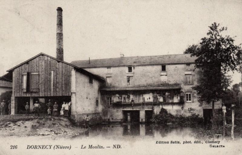 Dornecy (Nièvre) Le moulin vers 1925 CPA